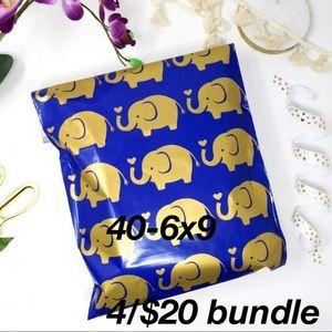 4/$20 Polymailers 25 10x13 self sealing Elephants